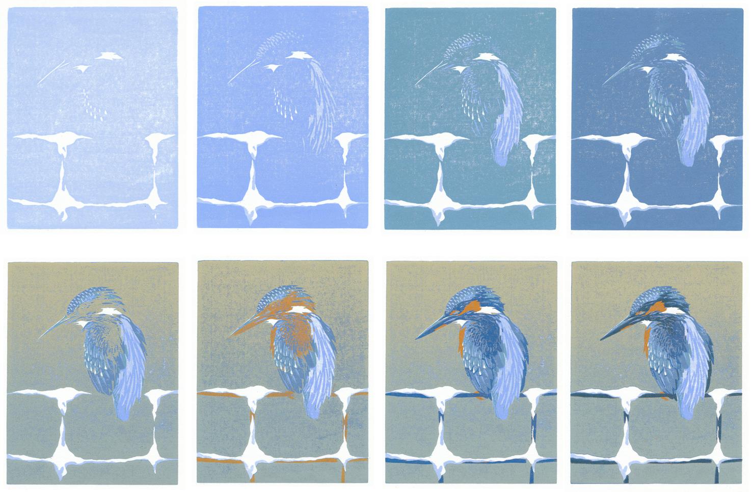ijsblauwvogel-houtserie